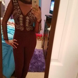 Never-worn Wine Jumpsuit